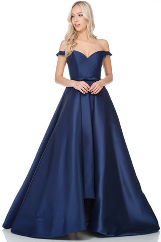 Off Shoulder A Line Evening Dress