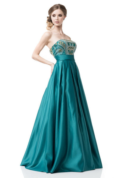 Strapless A-Line Ball Gown
