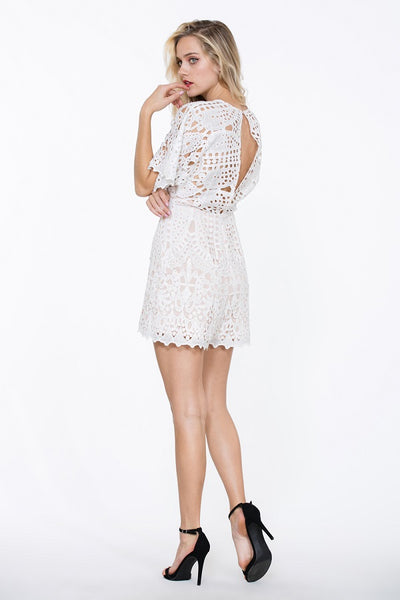 Lace Up Romper - Prom And Bridal Dress House
