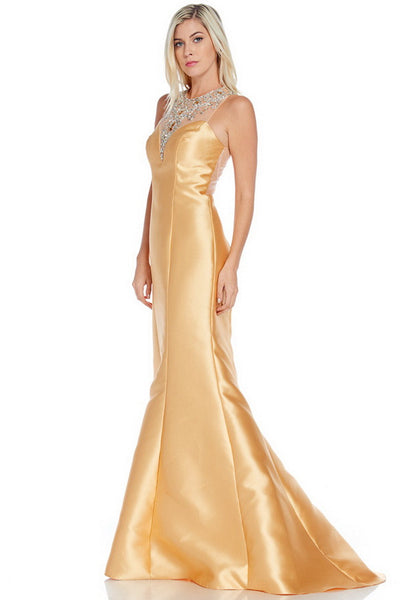 Sleeveless Trumpet Prom Evening Dress