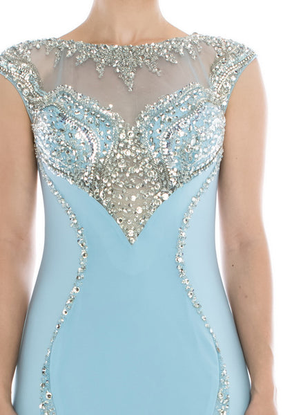 Amazing Light Blue Long Evening Dress - Prom And Bridal Dress House