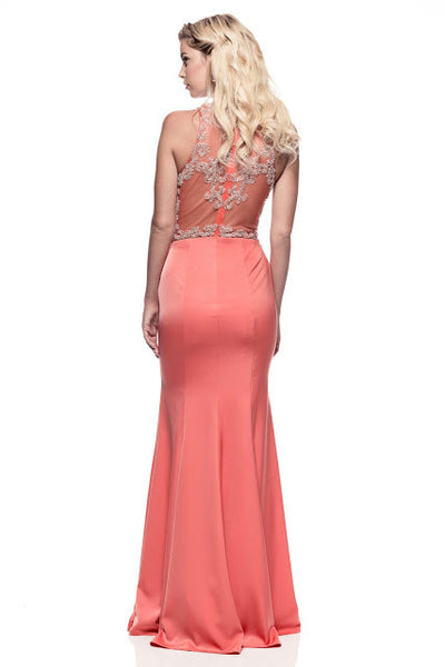 Prom Long Evening Coral Dress - Prom And Bridal Dress House