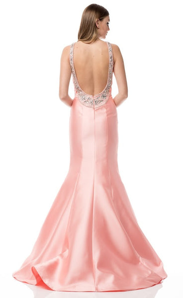 Charming Backless Long Evening Dress - Prom And Bridal Dress House