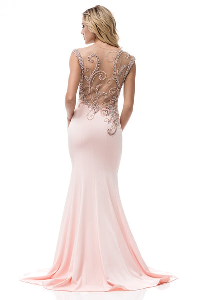 Beautiful Cap Sleeve Long Evening Dress - Prom And Bridal Dress House