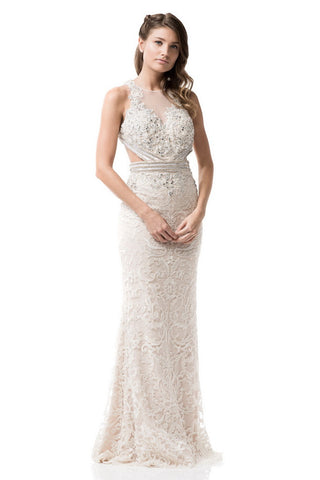 Lace Evening Prom Long Sleeveless Dress