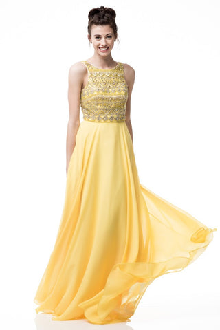 Vibrant Sleeveless Long Evening Dress