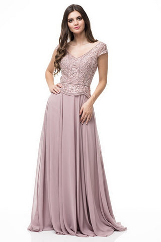 Cap Sleeve Evening Dress - Prom And Bridal Dress House