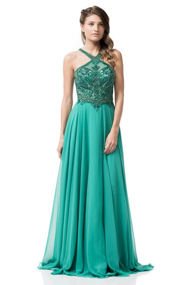 Halter Prom Evening Long Dress - Prom And Bridal Dress House