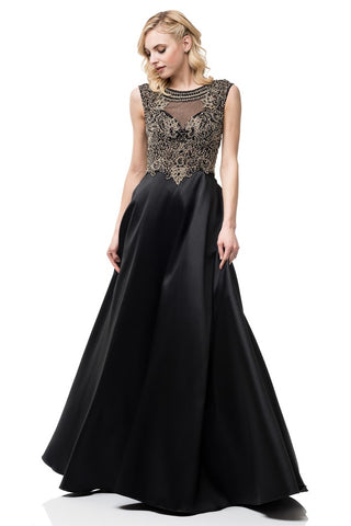 A-Line Side Pockets Evening Dress - Prom And Bridal Dress House