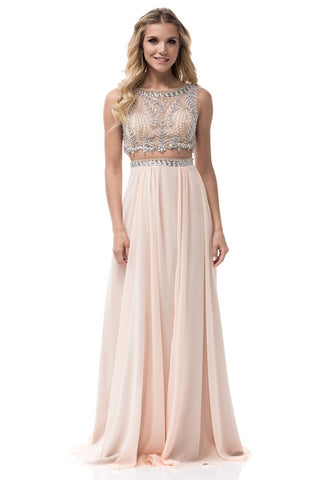 2-Piece Long Evening Dress