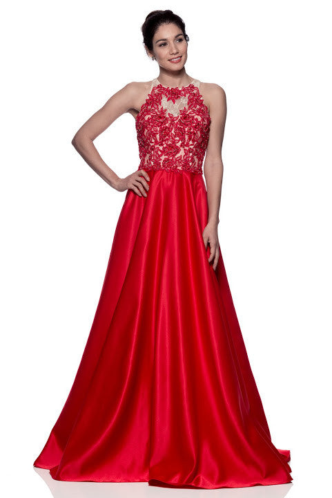 Evening Prom Sleeveless Long Dress - Prom And Bridal Dress House