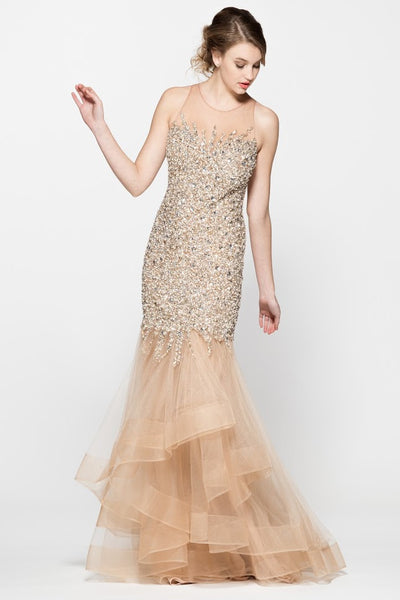 Sleeveless Mermaid Prom Evening Dress