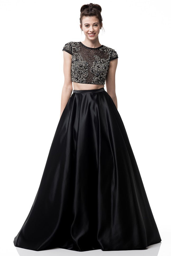 2-Piece Set Evening Short Sleeve Dress - Prom And Bridal Dress House