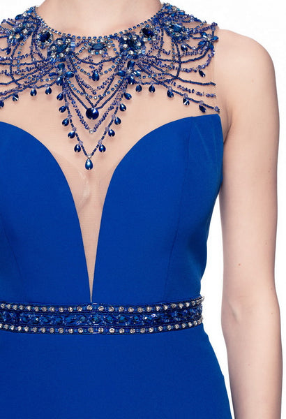 Beautiful Royal Blue Long Evening Dress - Prom And Bridal Dress House