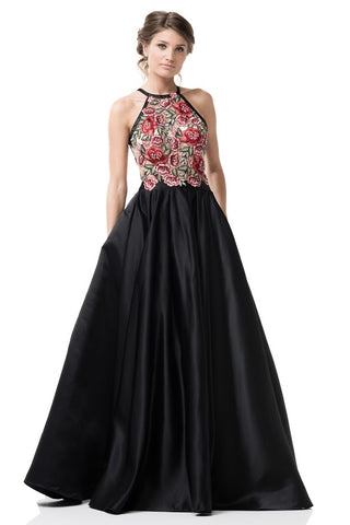 Halter Neck A-Line Prom Dress
