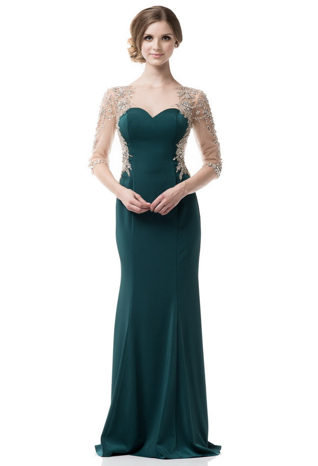 Amazing Green Long Evening Dress - Prom And Bridal Dress House