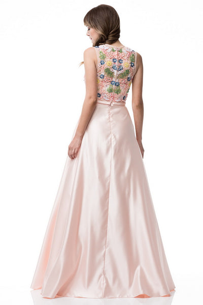2 Piece Set Long Evening Dress - Prom And Bridal Dress House
