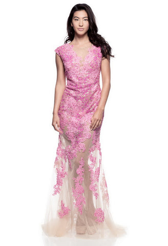 Gorgeous Pink Long Evening Dress - Prom And Bridal Dress House