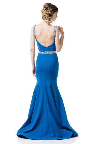 Sleeveless Backless Trumpet Evening Dress - Prom And Bridal Dress House