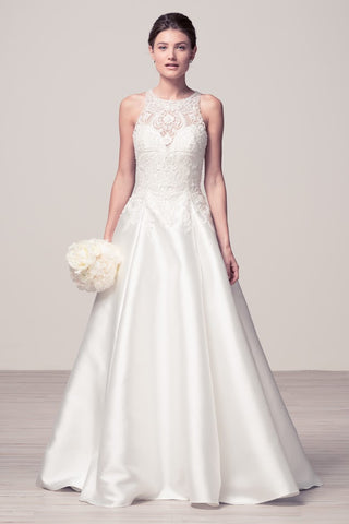Sleeveless A-Line Off White Bridal Dress
