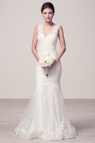 Sleeveless Mermaid Wedding Dress