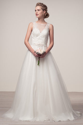 Sleeveless A-Line Bridal Dress