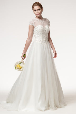 Amazing Short Sleeve Wedding Dress - Prom And Bridal Dress House