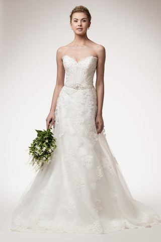 Marvelous Strapless Wedding Dress