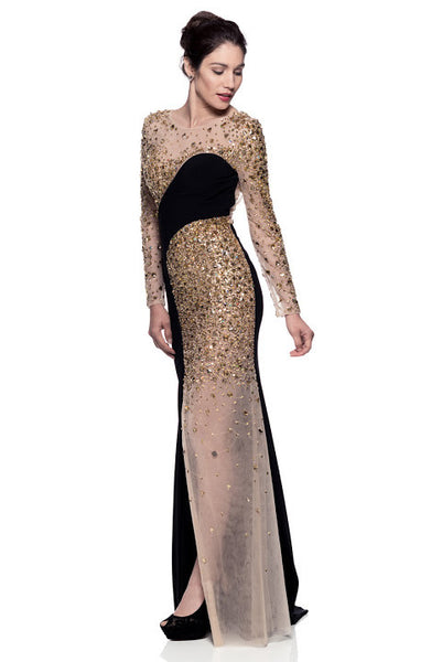 Evening Long Sleeve Maxi Dress - Prom And Bridal Dress House