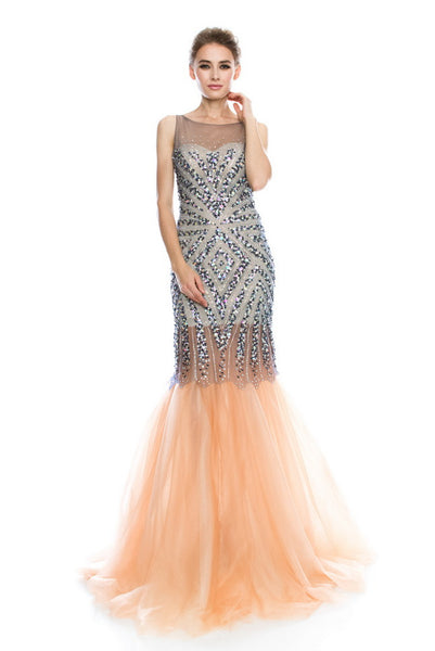 AG Studio Sleeveless Mermaid Evening Dress