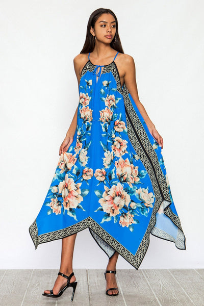 Floral Print Summer Dress - Prom And Bridal Dress House