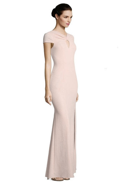 Adrianna Papell Crossed Front Keyhole Front Cap Sleeve Dress - Prom And Bridal Dress House