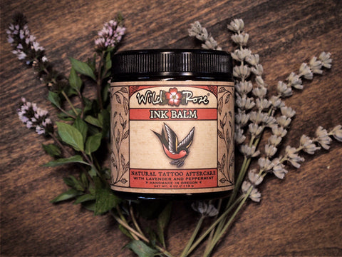 Ink Balm Natural Tattoo Aftercare - Wild Rose Herbs