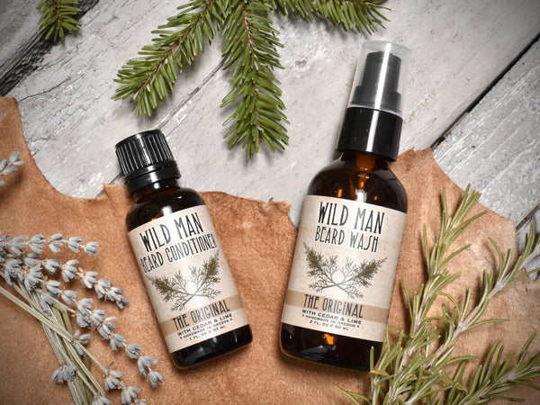 Wild Man Two-Piece Beard Grooming Gift Set