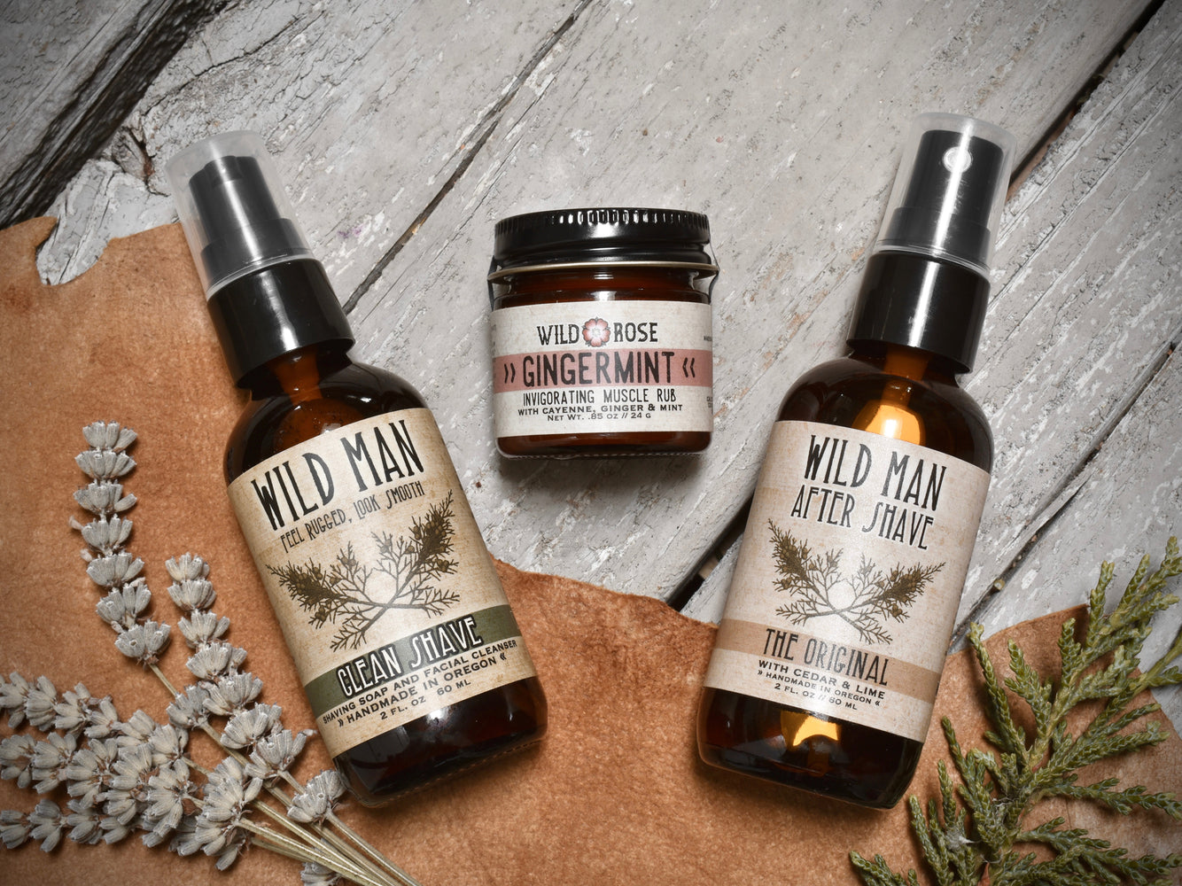 Wild Man - Shaving Gift Set - with Gingermint Muscle Rub