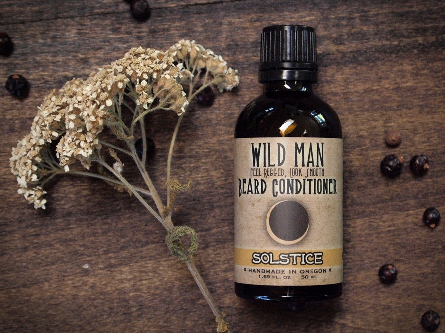 Image of Wild Man Beard Oil Conditioner - Solstice - Limited Edition - 50ml // 1.69 oz - Wild Rose Herbs - 1
