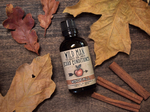 Image of Wild Man Beard Oil Conditioner - Windfall - Limited Edition - 50ml // 1.69 oz - Wild Rose Herbs - 1