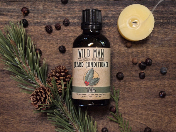 Image of Wild Man Beard Oil Conditioner - Yule - Limited Edition - 50ml // 1.69 oz - Wild Rose Herbs - 1