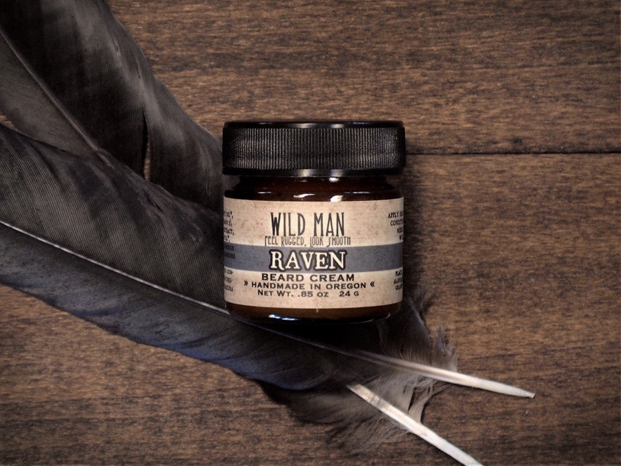 Image of Wild Man Beard Cream - Raven - Wild Rose Herbs - 1