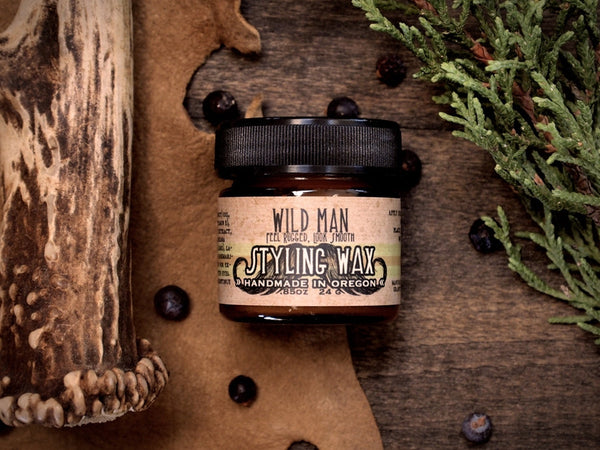 Image of Wild Man Styling Wax - 24g // .85oz - Wild Rose Herbs - 1