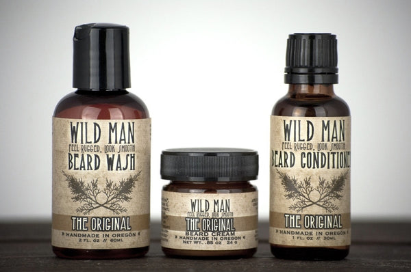 Image of Wild Man - Beard Grooming Gift Set - Wild Rose Herbs - 1