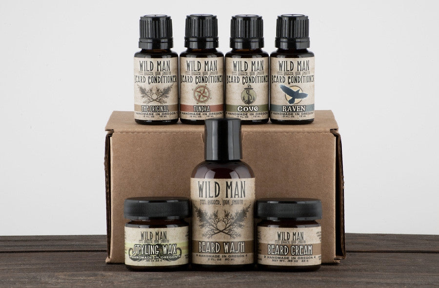 Image of Wild Man - The Complete Beard Grooming Gift Set - Wild Rose Herbs