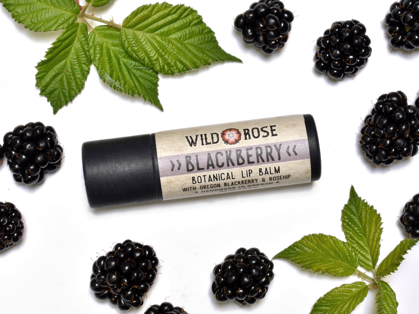 Blackberry Lip Balm in biodegradable tube