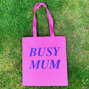 Pink Busy Mum Tote Bag