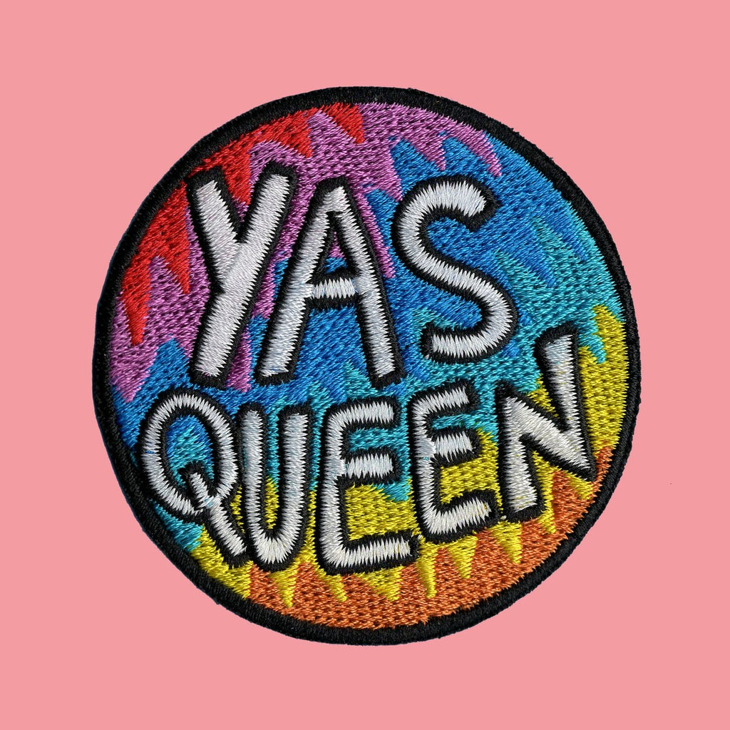 YAS QUEEN embroidered iron on patch