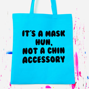 IT'S A MASK HUN Tote Bag - Blue