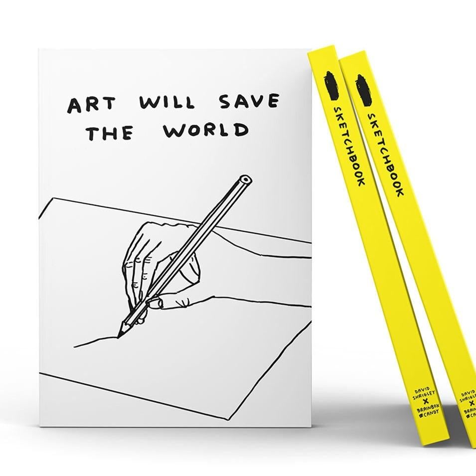 Art will save the world Sketchbook by David Shrigley