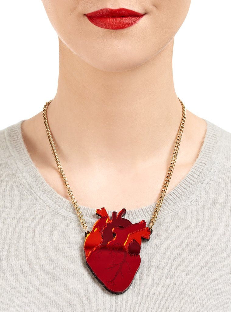 Anatomical Heart Necklace by Tatty Devine