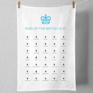 SALE - Flies of the British Isles Tea Towel