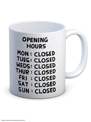 CLOSED Mug by David Shrigley